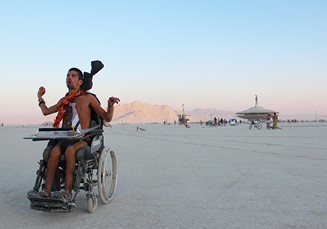 Jeppe Forchhammer på Burning Man.